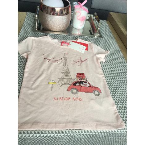 Top, Tee-shirt LILI GAUFRETTE Rose, fuschia, vieux rose