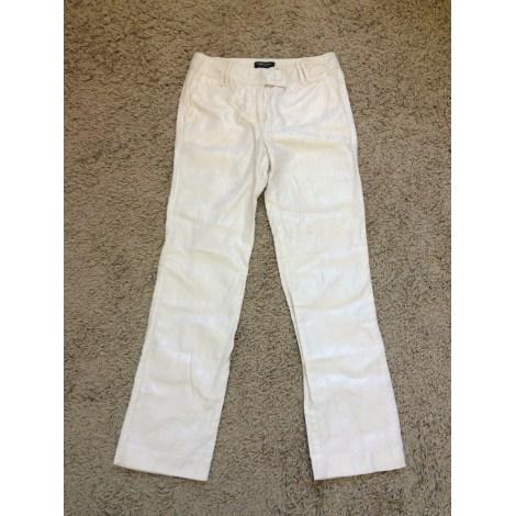 Pantalon carotte MORGAN Blanc, blanc cassé, écru