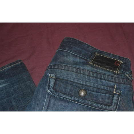 Jeans droit GUESS Bleu, bleu marine, bleu turquoise