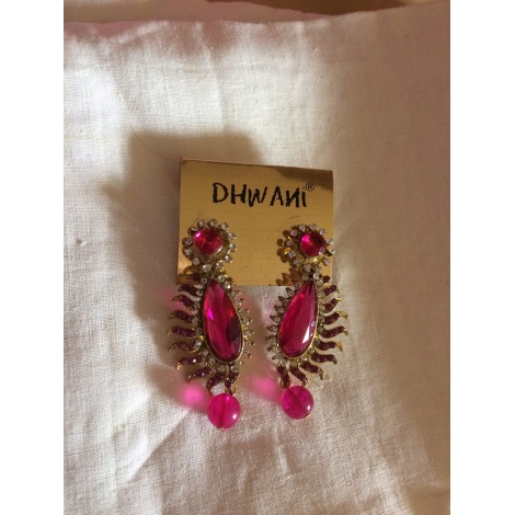 Boucles d'oreille DHWANI Rose, fuschia, vieux rose