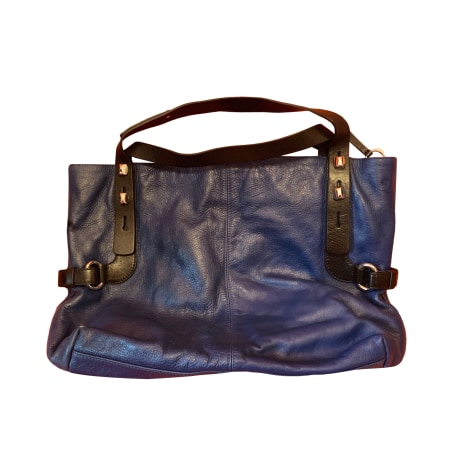 Sac XL en cuir FRANCESCO BIASIA Bleu, bleu marine, bleu turquoise