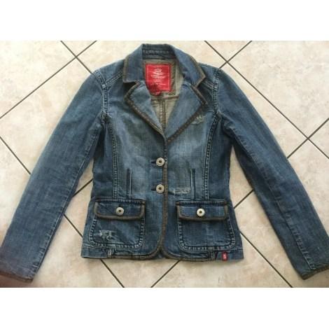 Veste en jean ESPRIT Bleu, bleu marine, bleu turquoise