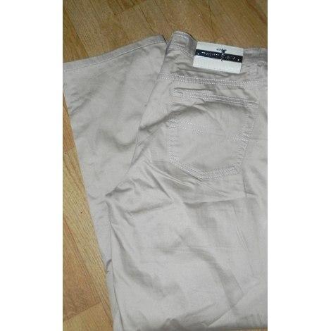 Pantalon droit TRUSSARDI JEANS Beige, camel