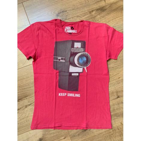 Tee-shirt ZARA Rose, fuschia, vieux rose