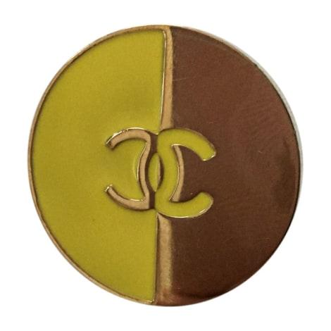 Pin's CHANEL Doré, bronze, cuivre