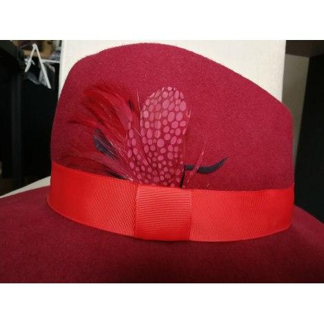 Chapeau GALERIES LAFAYETTE Rouge, bordeaux