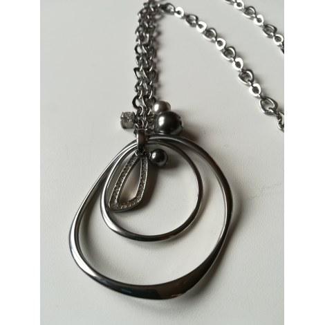 Pendentif, collier pendentif FOSSIL Argenté, acier