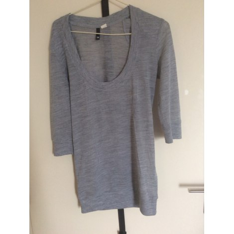 Pull tunique H&M Gris, anthracite