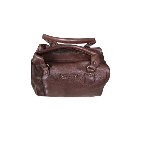 Lederhandtasche ABACO Rot, bordeauxrot