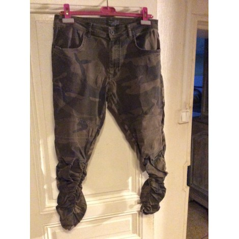 Jeans slim ZARA Kaki