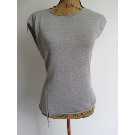 Top, tee-shirt MARQUE INCONNUE Gris, anthracite