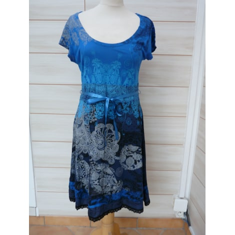 Robe mi-longue DESIGUAL Bleu, bleu marine, bleu turquoise