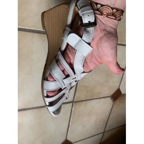 Sandales compensées PIKOLINOS Blanc, blanc cassé, écru