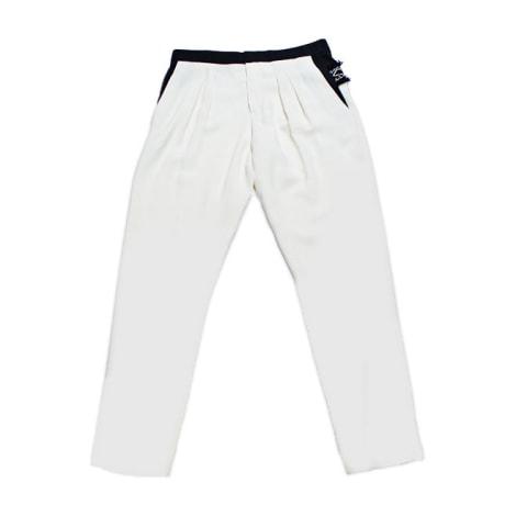 Pantalon droit CHLOÉ Blanc, blanc cassé, écru