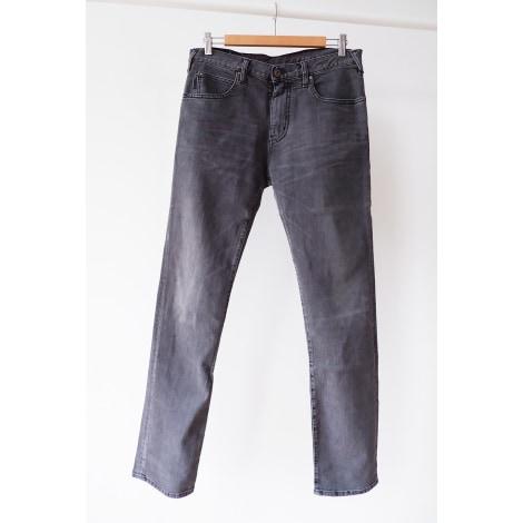 Pantalon droit ARMANI JEANS Gris, anthracite