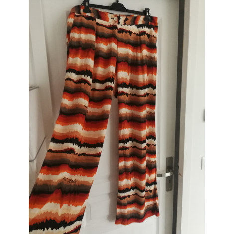 Pantalon large TRUSSARDI JEANS blanc orange noir