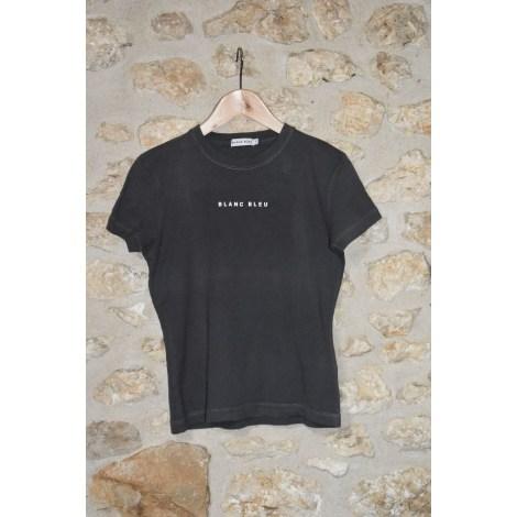 Top, tee-shirt BLANC BLEU Gris, anthracite