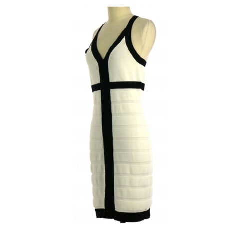 Robe mi-longue MANGO Blanc, blanc cassé, écru