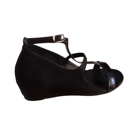 Sandales compensées VIC MATIÉ Noir