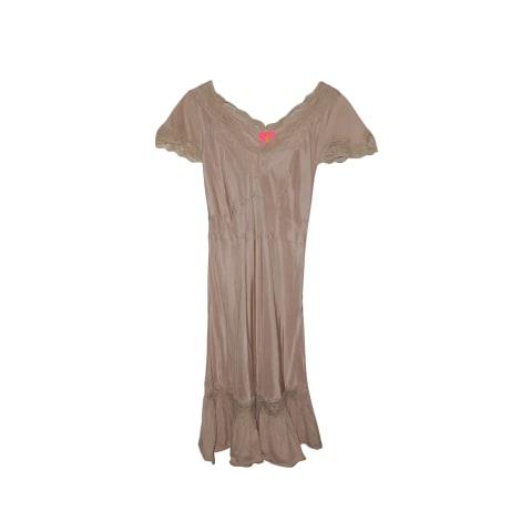 Robe courte MANOUSH Beige, camel