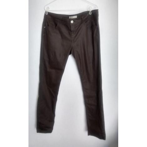 Pantalon droit CACHE CACHE Marron