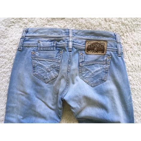 Jeans droit KAPORAL Bleu, bleu marine, bleu turquoise