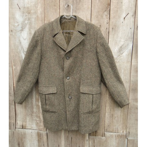 Manteau HARRIS TWEED Marron