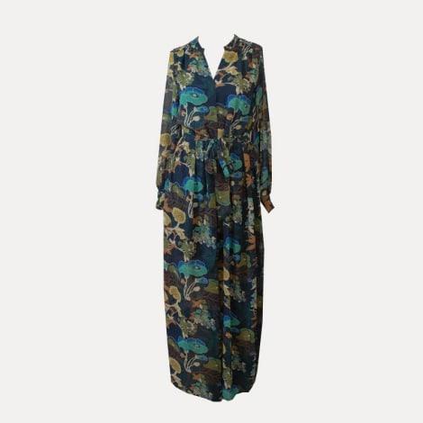 Robe longue H&M Bleu, bleu marine, bleu turquoise