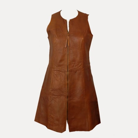Robe courte MARQUE INCONNUE Marron