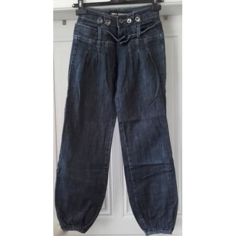 Jeans large, boyfriend MINI MIGNON Bleu, bleu marine, bleu turquoise