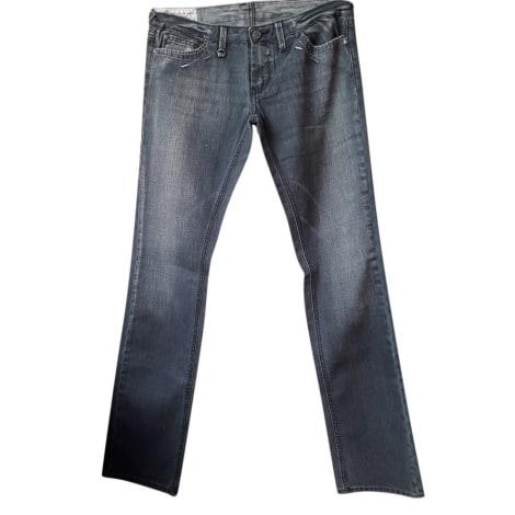 Jeans droit LE TEMPS DES CERISES Gris, anthracite