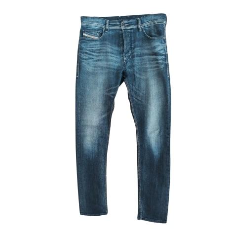 Pantalon droit DIESEL Bleu, bleu marine, bleu turquoise