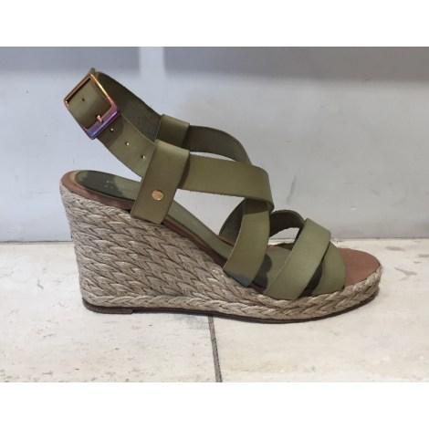 Sandales compensées PALOMA BARCELO Vert