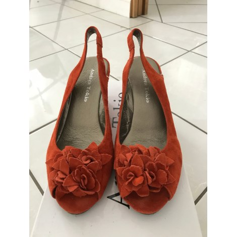 Sandales compensées ANDREA TOKIO Orange