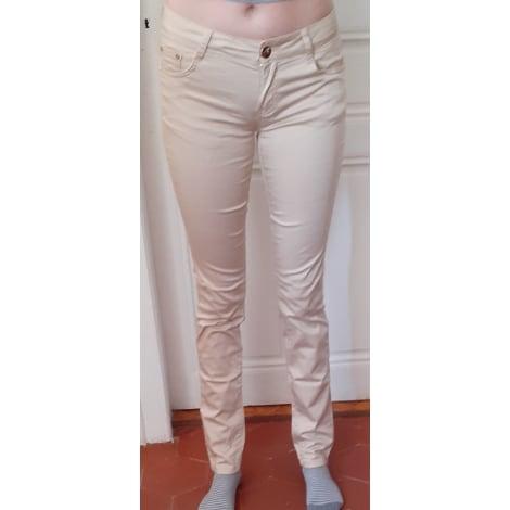 Pantalon slim, cigarette MARQUE INCONNUE Beige, camel
