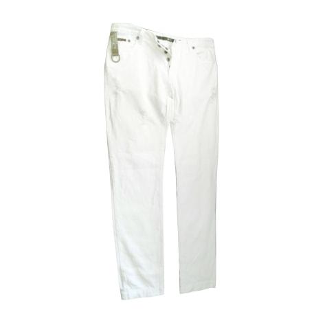 Jeans droit DOLCE & GABBANA Blanc, blanc cassé, écru
