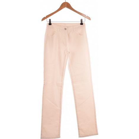 Jeans droit CAROLL Blanc, blanc cassé, écru