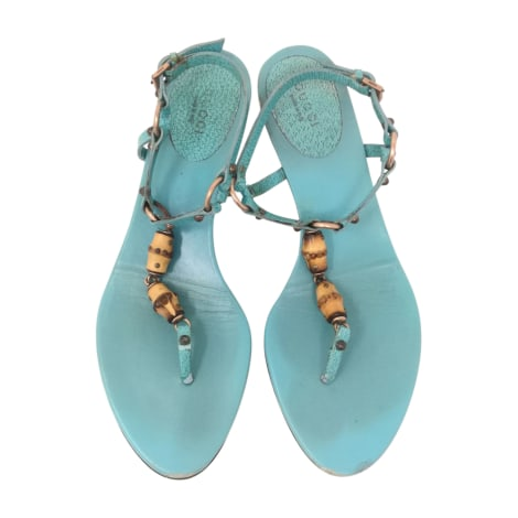 Tongs GUCCI Bleu, bleu marine, bleu turquoise