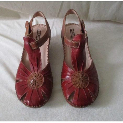 Sandales compensées PIKOLINOS Marron