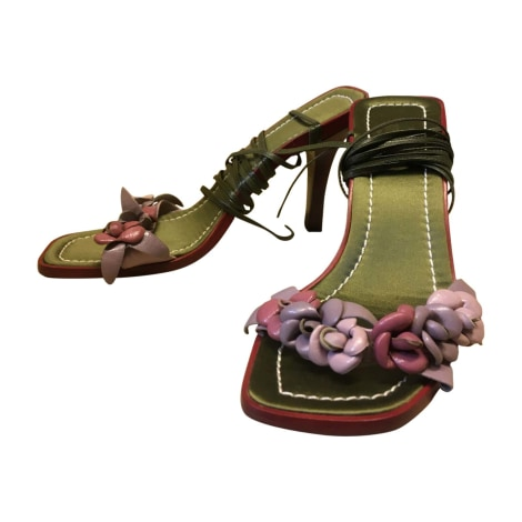Sandales à talons VALENTINO Rouge, bordeaux