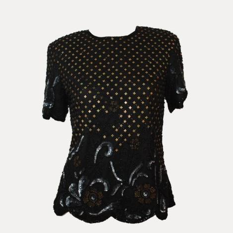 Top, tee-shirt MARQUE INCONNUE Noir