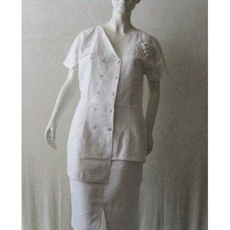 Tailleur jupe BLEU BLANC ROUGE Blanc, blanc cassé, écru