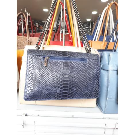 Sac en bandoulière en cuir KEVIM Bleu, bleu marine, bleu turquoise