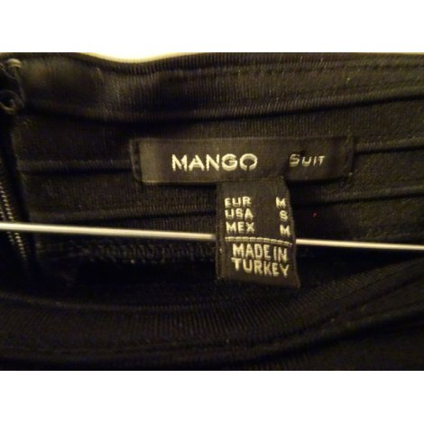 Jupe mi-longue MANGO Noir