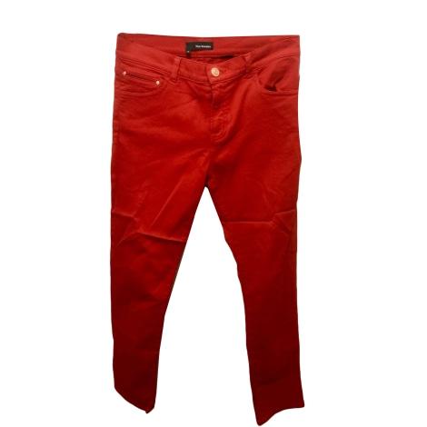 Jeans droit THE KOOPLES Rouge, bordeaux