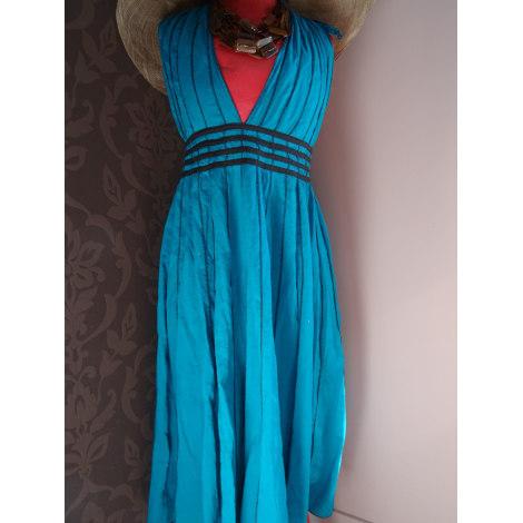 Robe longue MARQUE INCONNUE Bleu, bleu marine, bleu turquoise
