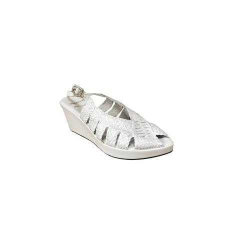 Sandales à talons HEYRAUD Blanc, blanc cassé, écru