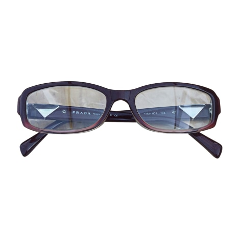 Eyeglass Frames PRADA Red, burgundy
