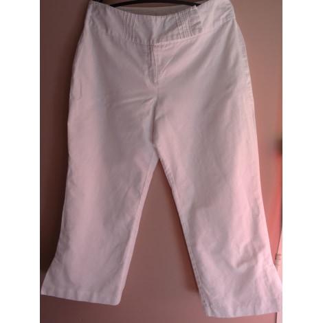 Pantalon large CAMAIEU Blanc, blanc cassé, écru