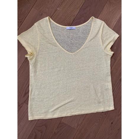 Top, tee-shirt ZAPA Jaune